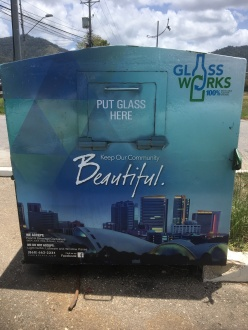 Glass Works receptacle at Eddie Hart Grounds