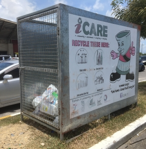 iCare receptacle at Trincity Mall